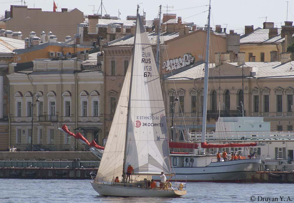 Флагманское судно парада парусно